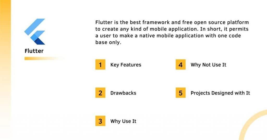 Flutter Frontend Framework With it's Complete Information