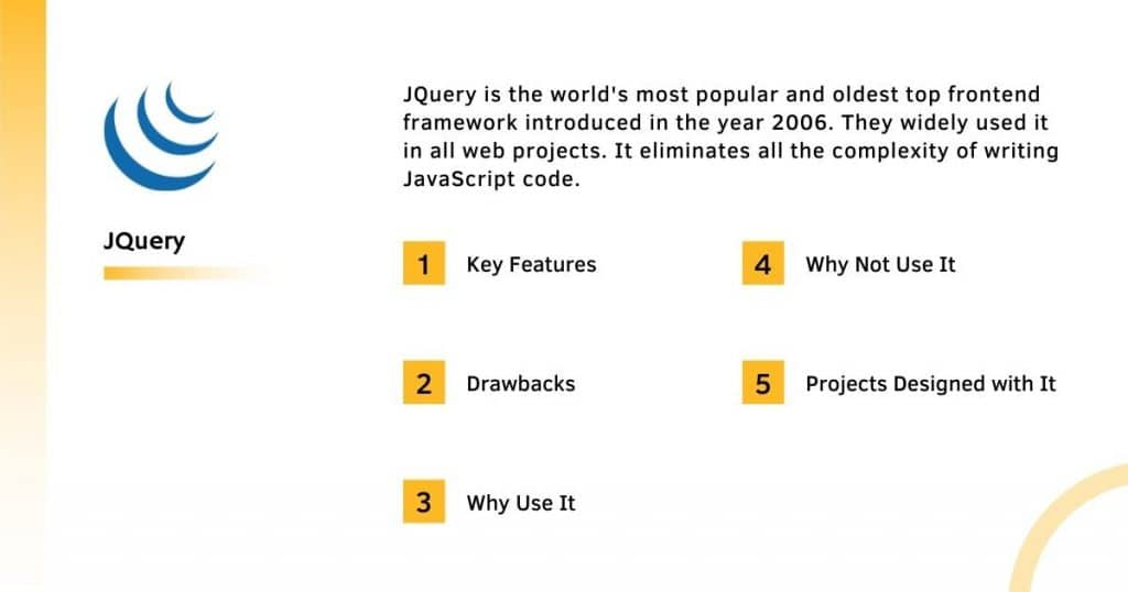 Jquery Frontend Framework With it's Complete Information